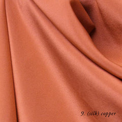 copper silk crepe de chine
