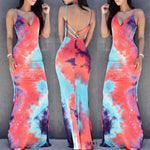 Maxi Tie-Dye V Neck Sundress