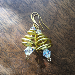 Gold & Crystal Tree Earrings from the Christmas Collection