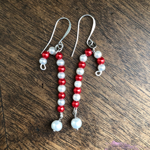 Red & White Faux Pearl Candy Canes from the Christmas Collection