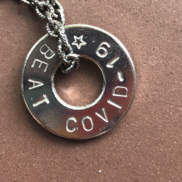BEAT COVID-19 Necklace  MyIntent  Hand Stamped When Ordered