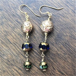 Czech Glass Dangle Earrings