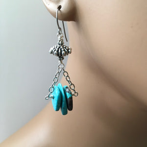 Magnesite  Dangle Earrings on Titanium Earwires