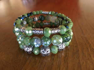 Margarita Lime Green Agate Bracelet Set