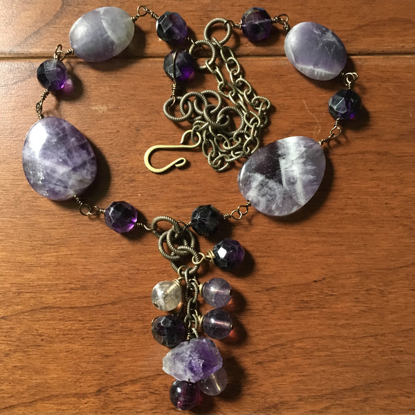 Be Still My Heart Amethyst Necklace