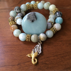 Blue Moon Mermaid Bracelet Set