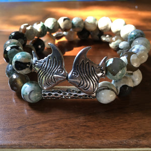 Kissing Fish Bracelet Set