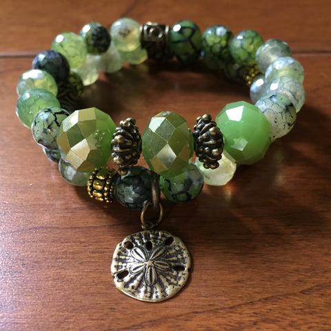 Key Lime Agate Bracelet Set
