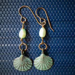 Barely There Pearl and Shell Earrings
