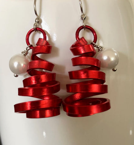 Red Santa Claus Hat Earrings from the Christmas Collection