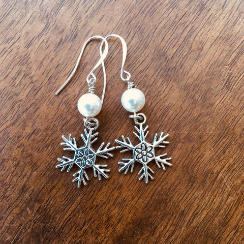 Snowflake Earrings from the Christmas Collection