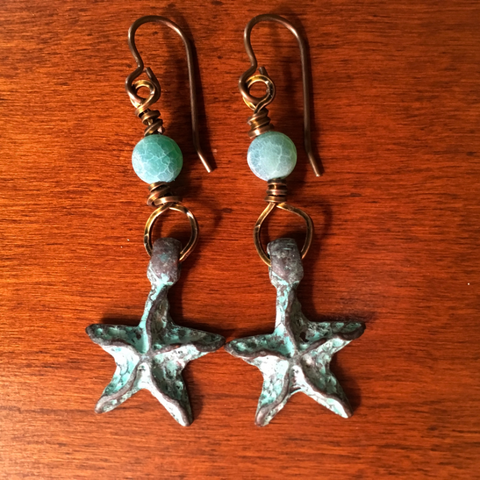 By The Sea Starfish Earrings
