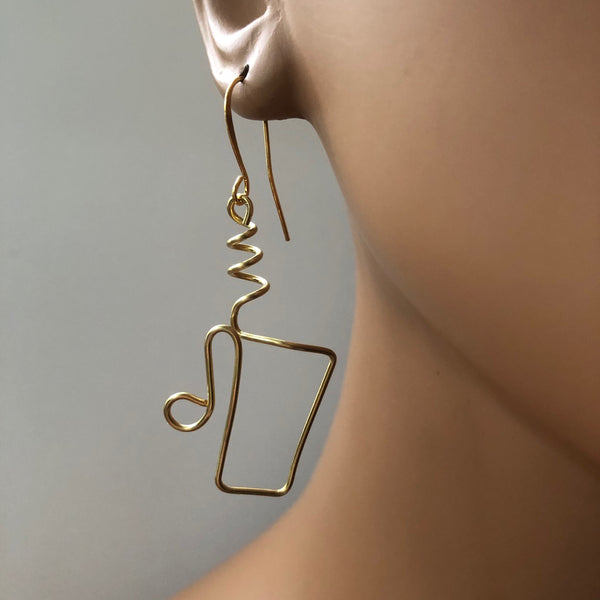 Large Coffee Please!   Large Coffee Cup Earring