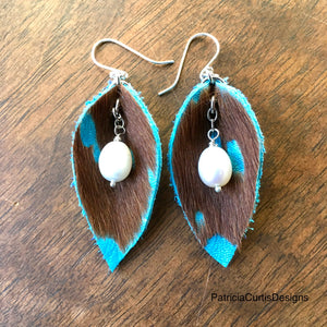 Leather Earrings - medium size