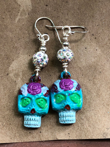 Sugar Skull Earrings.