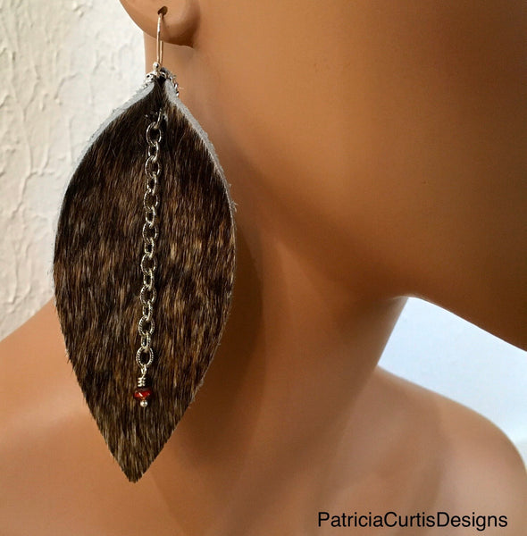 Leather Earrings - Largest Size