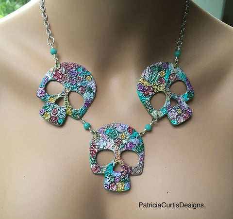 Margo's Sugar Skull Necklace