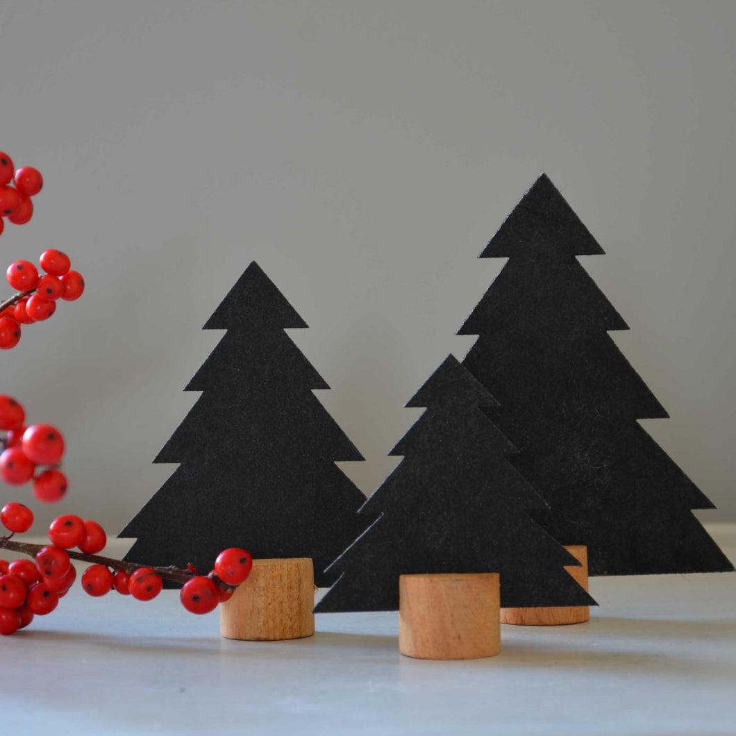 Set of 3 Christmas Trees- Black
