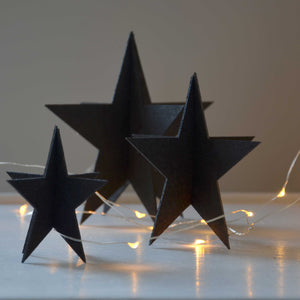Set of 3 Stars- Black