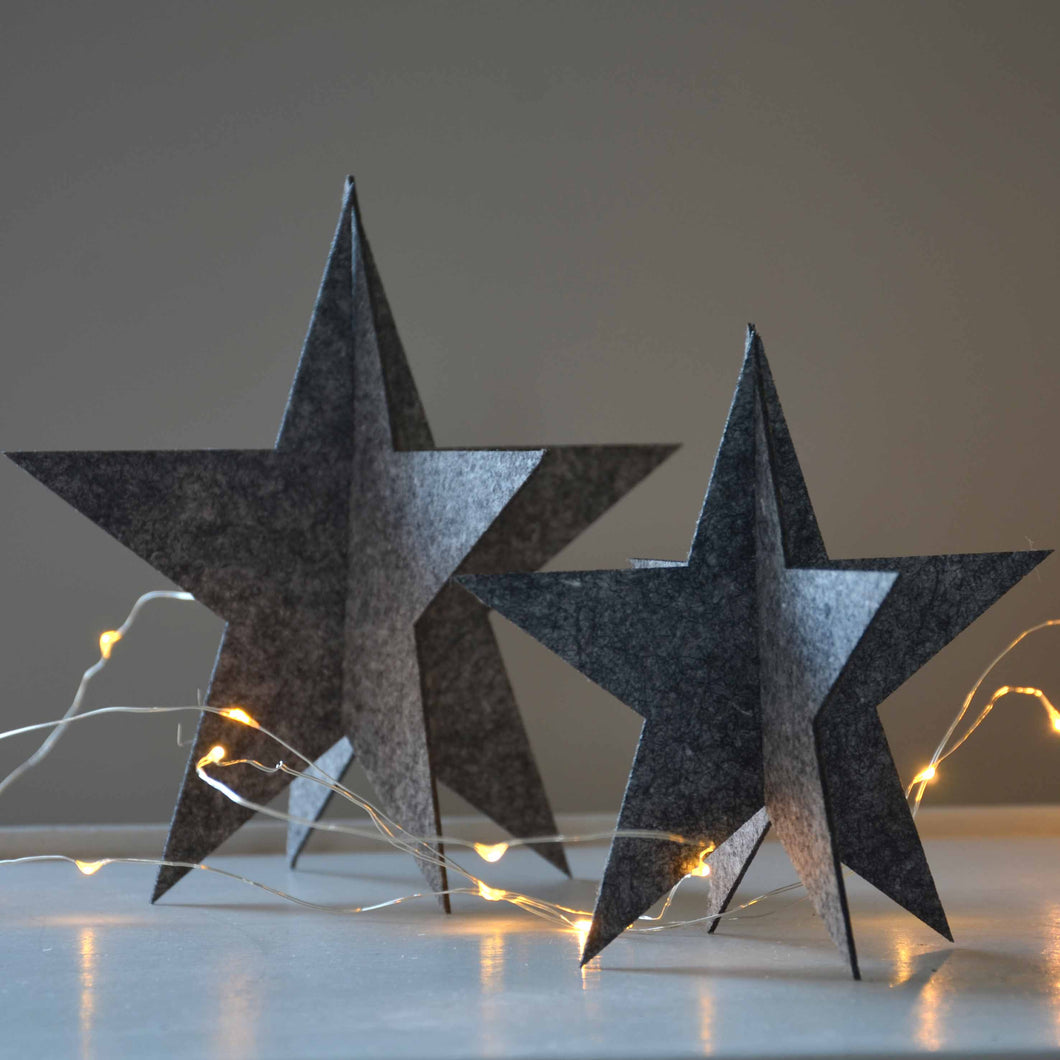 Set of Two Stars- Grey