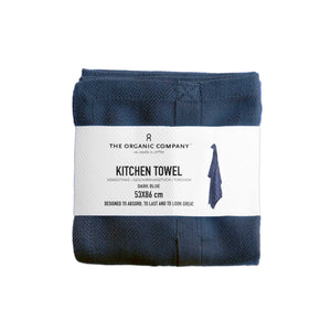 Navy Organic Cotton Tea Towel