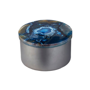 Blue Agate Storage Jar
