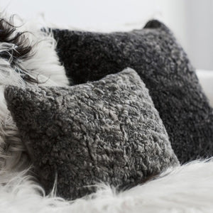 Sheepskin Cushion- Various Colours