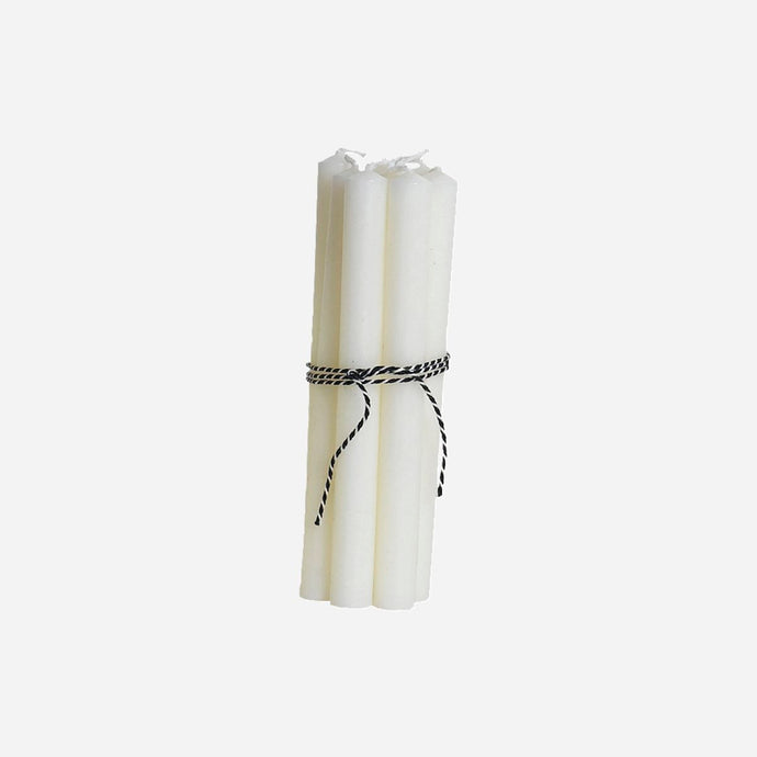 Slim White Candle- Set of 8