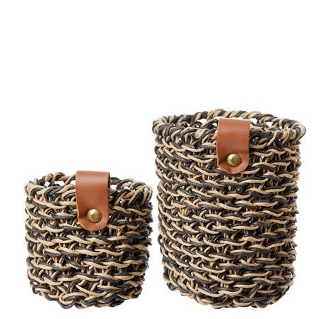 Woven Paper Baskets- Set of Two