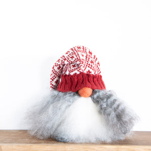 Red Knitted Hat Tomtebod Nisse- Two Sizes