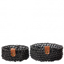 Set of Two Low Woven Basket- Various Colours