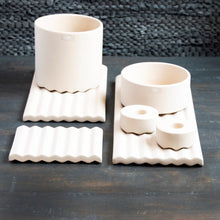Set of Two Wave Candle Holder- Various Colours
