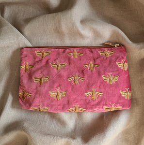 Bee Embroidered Pouch