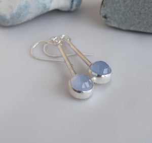 Lavender Chalcedony Earrings