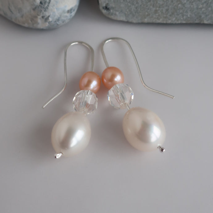Pearl and Crystal Earrings