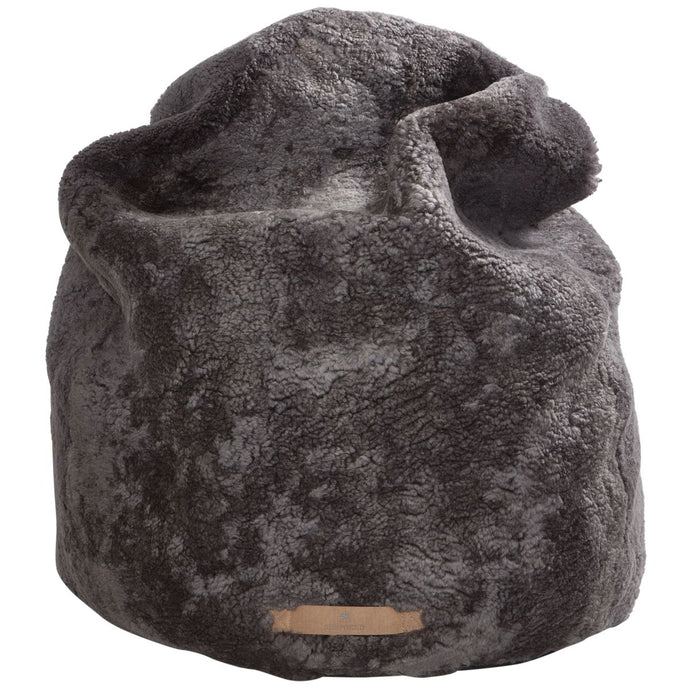Carbon Sheepskin Beanbag