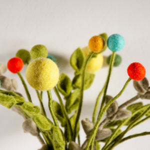Small Felt Flower- Various Colours