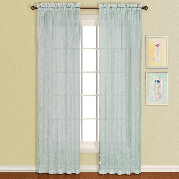 Savannah Rod Pocket Sheer Panel - 051x084 Sea Blue C29111- Marburn Curtains
