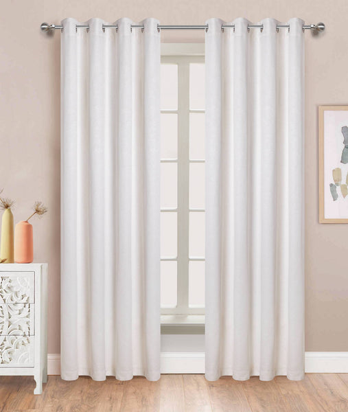 Winston Grommet Panel - 054x084 White C45846- Marburn Curtains