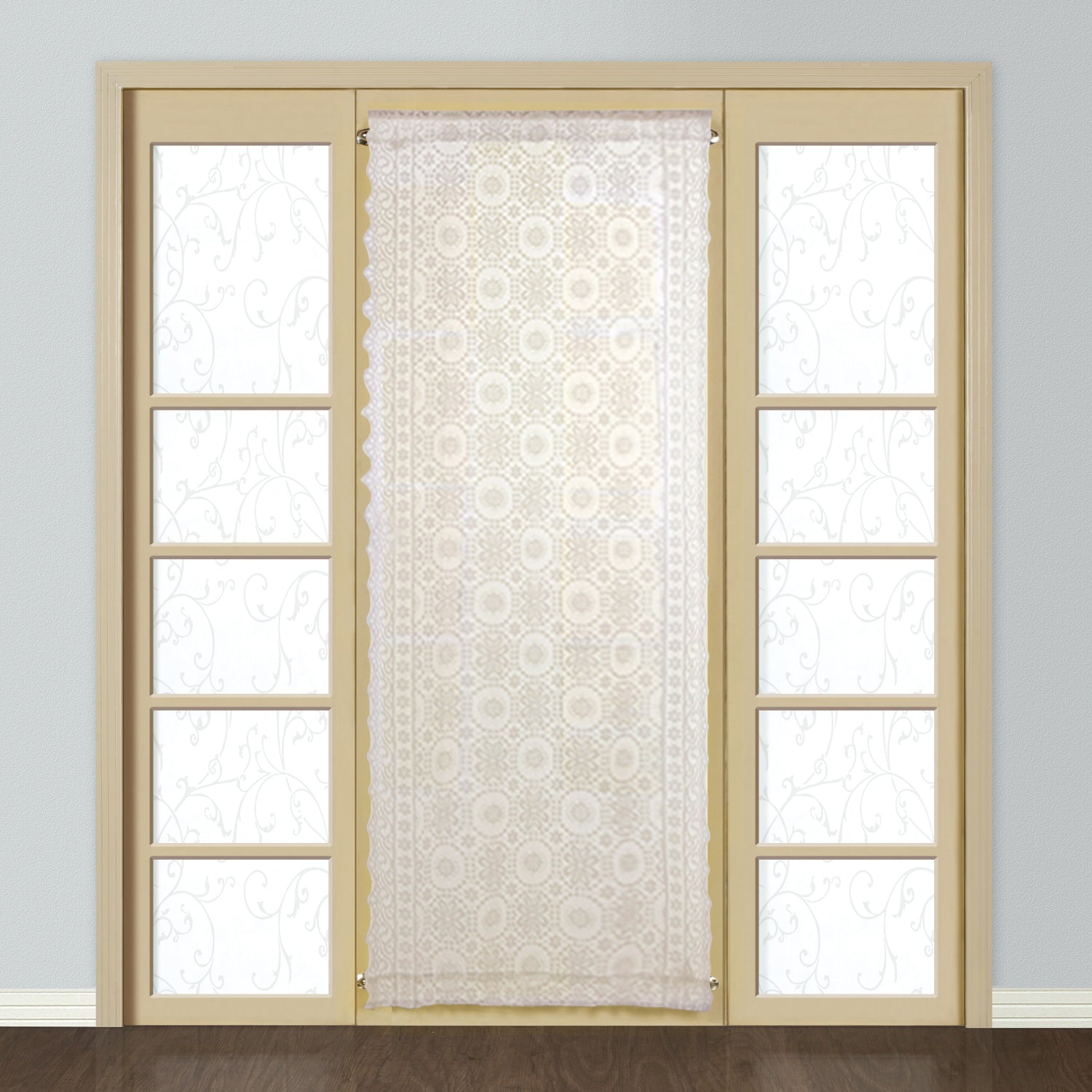 New Rochelle Rod Pocket Door Panel - 40x40 Natural C42273- Marburn Curtains