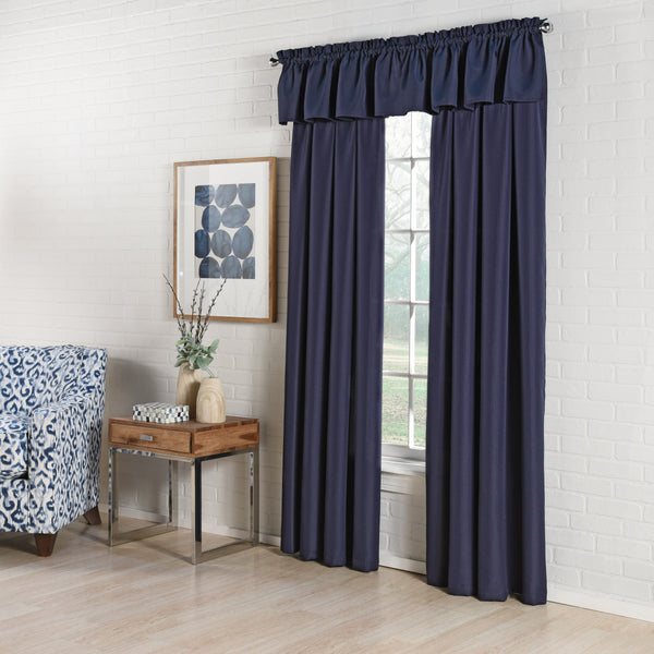 Ribcord Rod Pocket Panel - 055x063   Navy  C40805- Marburn Curtains