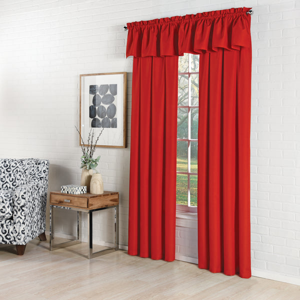 Ribcord Rod Pocket Panel - 055x063   Red  C40804- Marburn Curtains