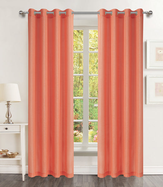 Lillies Solid Grommet Panel - 054x084 Blush C46080- Marburn Curtains