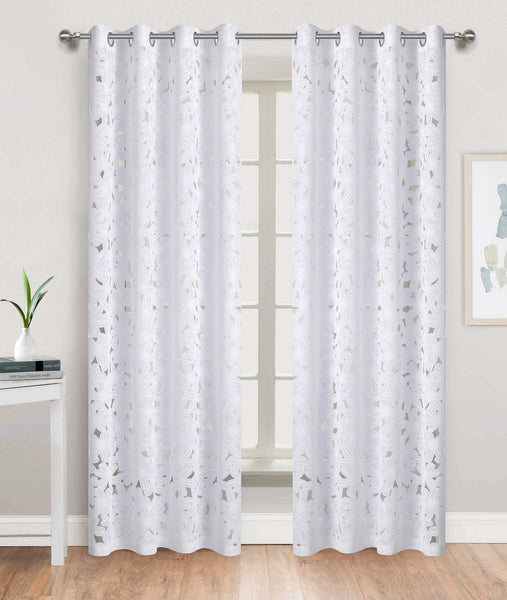 Flower Burst Grommet Panel - - Marburn Curtains