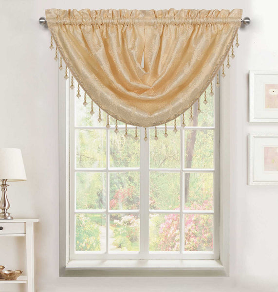 Addison Rod Pocket Waterfall Valance - - Marburn Curtains