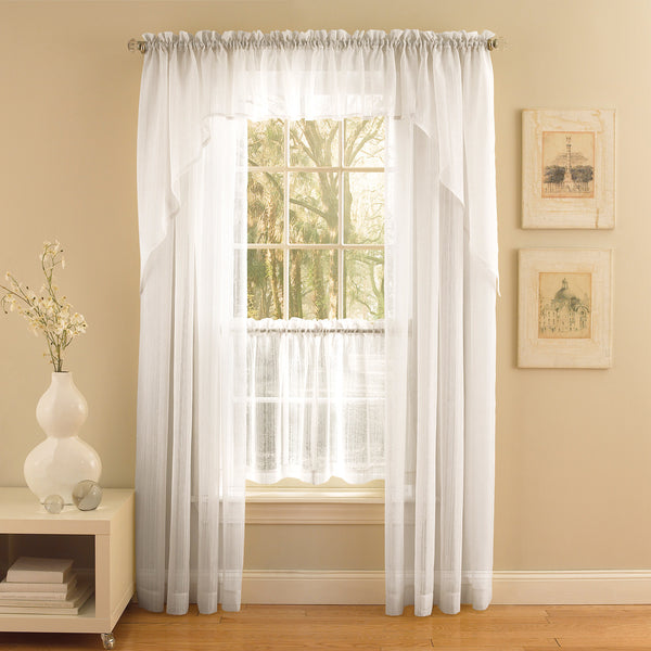 Harmony Sheer Rod Pocket Panel Collection - Panel   056x063 White C28963- Marburn Curtains