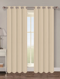 Twilight Thermal Blackout Grommet Panel - Panel   054x063 Beige C40347- Marburn Curtains