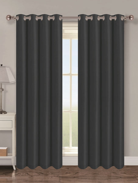 Twilight Thermal Blackout Grommet Panel - Panel 054x084 Black C37825- Marburn Curtains