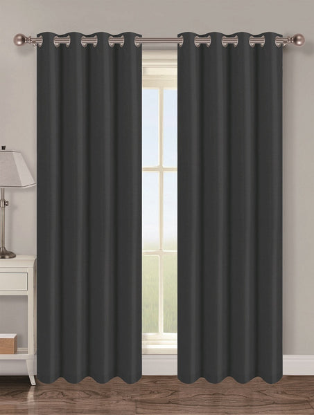 Twilight Thermal Blackout Grommet Panel - Panel   054x063 Black C40345- Marburn Curtains