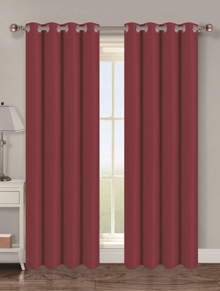 Twilight Thermal Blackout Grommet Panel - Panel   054x063 Burgundy C40348- Marburn Curtains